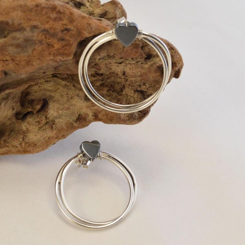 Σκουλαρίκια Ασημένιο Σύρμα